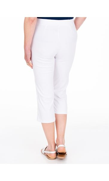 Anna Rose Pull On Cropped Trousers White - Gallery Image 3