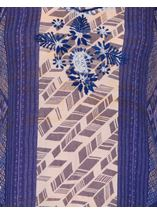 Strappy Embroidered and Printed Lightweight Dress Blue - Gallery Image 3