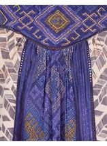 Printed Sleeveless Panel Top Blue - Gallery Image 3