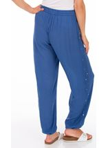 Elasticated Cuff Pull On Trousers Blue - Gallery Image 2