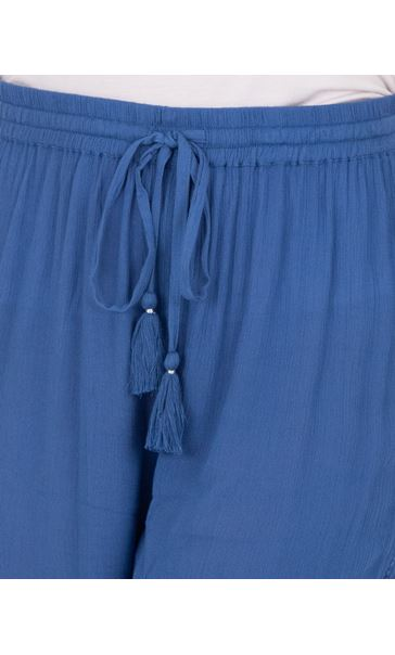 Elasticated Cuff Pull On Trousers Blue - Gallery Image 3