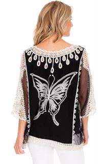 Butterfly Embroidered Top