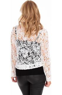Long Sleeve Crochet Jacket