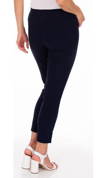 Fitted Pull On Cropped Stretch Trousers Midnight - Gallery Image 2