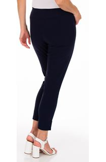 Fitted Pull On Cropped Stretch Trousers - Midnight