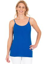 Adjustable Strappy Jersey Cami Top Blue - Gallery Image 1