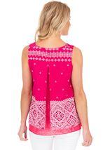 Layered Split Back Top Pink - Gallery Image 2