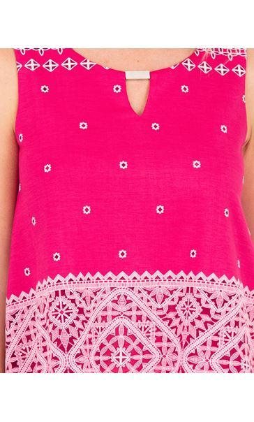 Layered Split Back Top Pink - Gallery Image 3