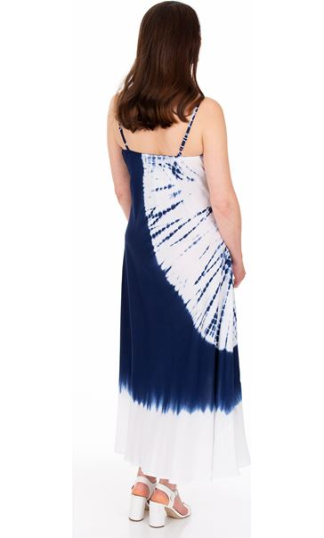 Strappy Tie Dye Maxi Dress Blue - Gallery Image 2