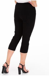 Slim Leg Cropped Trousers - Black