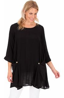 Oversized Three Quarter  Sleeve Tunic