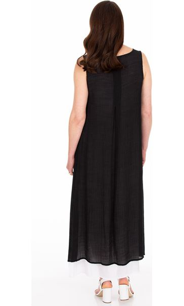Sleeveless Layered Maxi Dress Black - Gallery Image 2