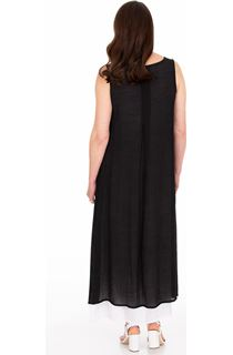 Sleeveless Layered Maxi Dress - Black
