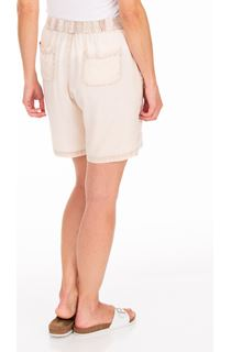 Embroidered Pull On Washed Shorts