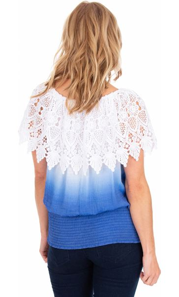 Lace Trimmed Ombre Top