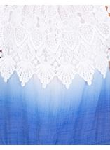 Lace Trimmed Ombre Top Blue/White - Gallery Image 3