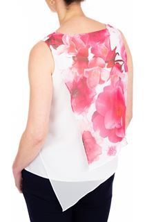 Anna Rose Asymmetric Layered Chiffon Top