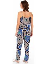 Printed Lightweight Strappy Jumpsuit Blues - Gallery Image 2