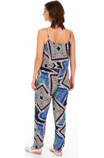 Printed Lightweight Strappy Jumpsuit