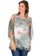 Printed Chiffon Layered Top