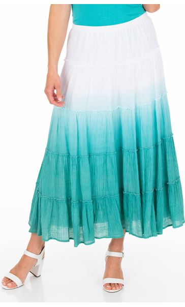 Ombre Pull On Maxi Skirt