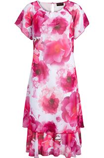 Anna Rose Bias Cut Floral Printed Midi Dress