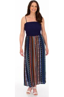 Printed Strappy Maxi Dress