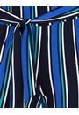 Wide leg Striped Stretch Trousers Midnight Multi - Gallery Image 3