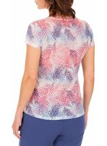 Anna Rose Burn Out Layered Print Top Pink Multi - Gallery Image 2