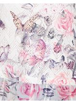 Anna Rose Printed Layered Top White/Pink - Gallery Image 3
