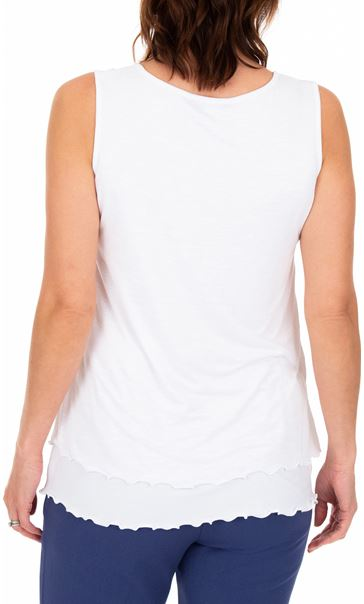 Anna Rose Sleeveless Layered Top White - Gallery Image 2