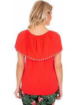 Embellished Jersey Top Rouge - Gallery Image 2