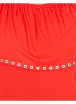 Embellished Jersey Top Rouge - Gallery Image 3