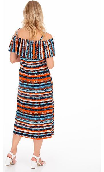Printed Fitted Stretch Midi Dress