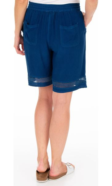 Loose Fitting Elasticated Waist Shorts Blue - Gallery Image 2