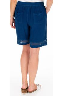 Loose Fit Pull On Shorts - Blue