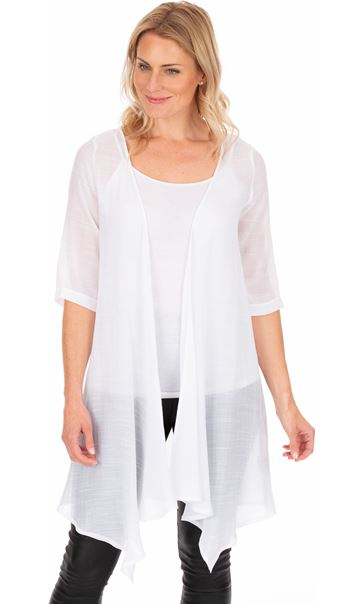 Crinkle Open Cover Up White
