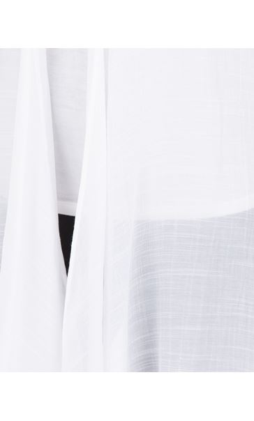 Crinkle Open Cover Up White - Gallery Image 3
