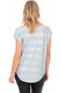 Loose Fit Jersey Shimmer Top