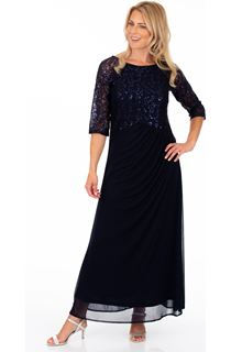 Lace Bodice Maxi Dress