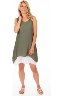 Sleeveless Layered Crinkle Tunic