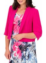 Anna Rose Cropped Open Jacket Hot Pink - Gallery Image 1