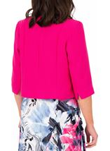 Anna Rose Cropped Open Jacket Hot Pink - Gallery Image 2