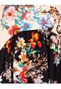 Sleeveless Floral Print Tunic Black/Peach - Gallery Image 3