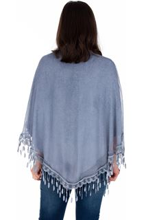 Lace Trimmed Open Cover Up