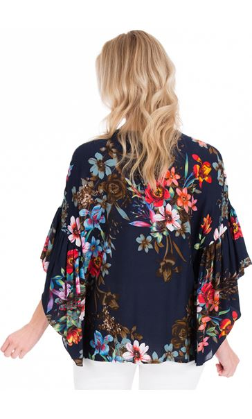 Embellished Floral Print Top
