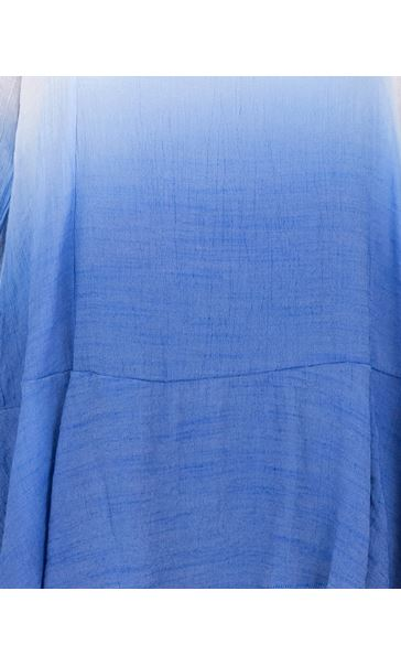 Long Sleeve Ombre Tunic Cobalt/White - Gallery Image 3