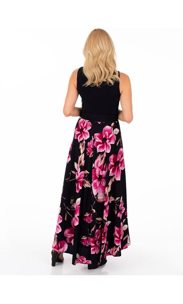 Floral Printed Sleeveless Maxi Dress Midnight/Pink - Gallery Image 2