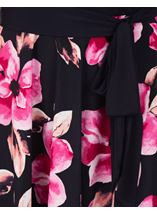 Floral Printed Sleeveless Maxi Dress Midnight/Pink - Gallery Image 3
