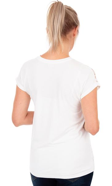 Short Sleeve Jersey Top - White